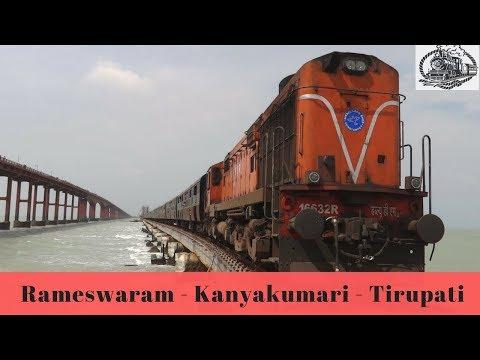 16780 | 22622 | Kanyakumari - Rameswaram- Tirupati (Meenakshi Express) Arrived at Dindigul Jn