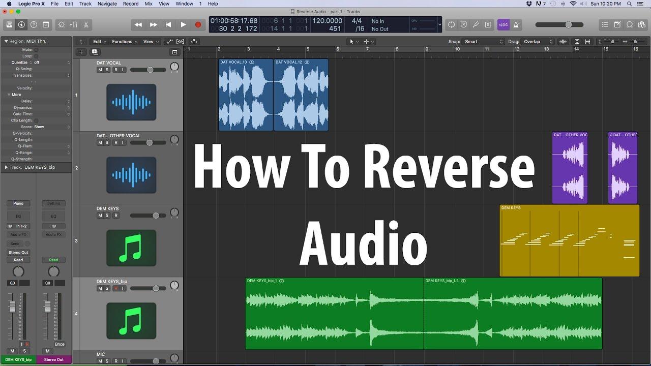 reverse audio logic pro x