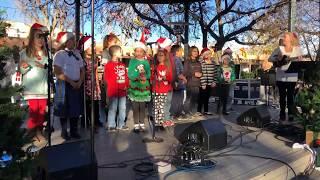 Lighting Of The Trees Ceremony 2017 Santa Fe, NM - Santo Niño Regional Catholic School Choir Clip2