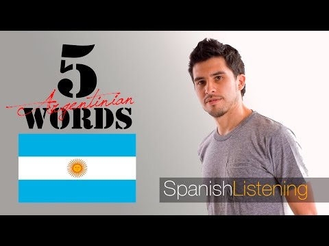 5 Common Argentinian words