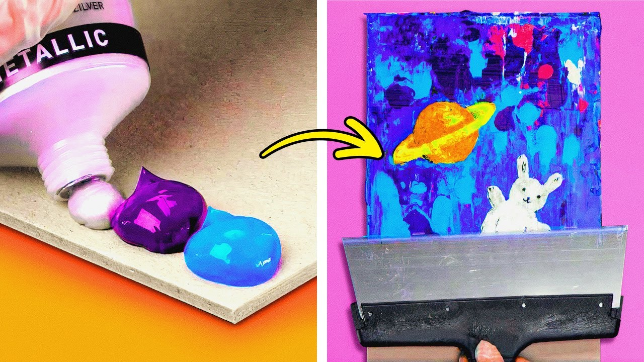 STUNNING ART TECHNIQUES to create impressive yet easy paintings