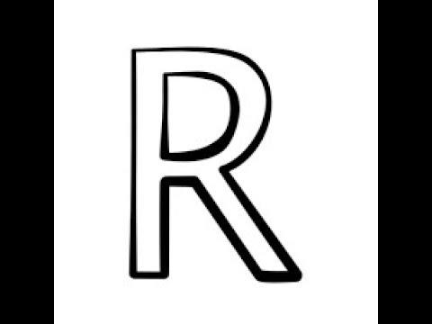 como desenhar com a letra r desenho simples youtube