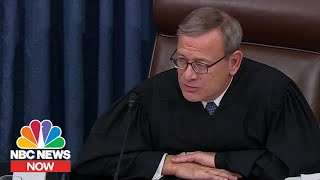 John Roberts: 'Those Addressing The Senate Should Remember Where They Are' | NBC News NOW