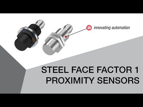 Steel Face Factor 1 Proximity Sensors