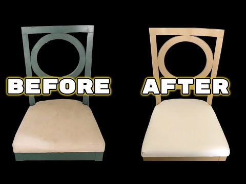 How to Reupholster A  Dining Chair - DIY Tutorial