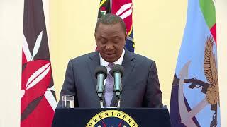 President Uhuru Kenyatta addresses the 5th Annual Devolution Conference 2018 from State House.
