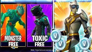 "New Secret Skins Found In Fortnite Update! | ""Free Skin Giveaway"""