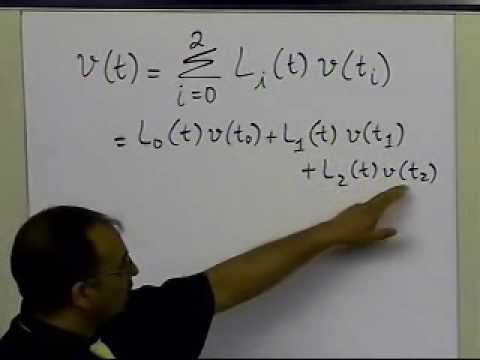 Quadratic Lagrangian Interpolation: Example: Part 1 of  2