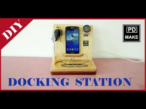 Docking Station// mobile phone charging station DIY// how to make
