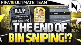 RIP BIN SNIPING?! - FIFA 16 Ultimate Team
