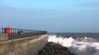 High Tide at Ventnor during Storm 6th January 2014