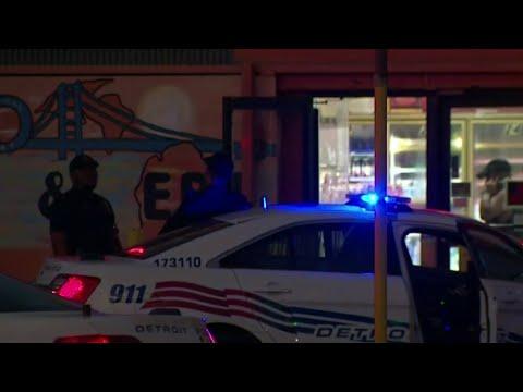 Detroit Police Officer Collapses At Crime Scene