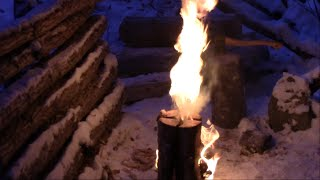 Repeat youtube video Improved Swedish Fire Torch design