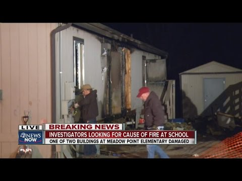 Fire damages building at Meadow Point Elementary School in Aurora