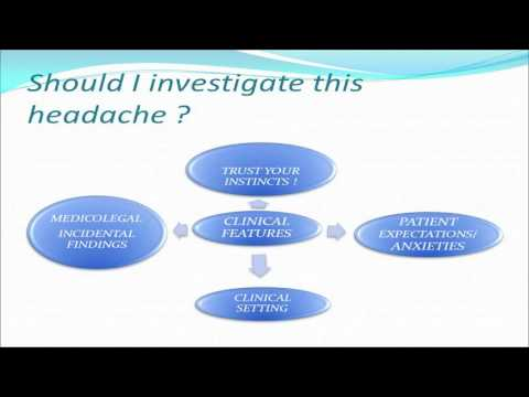 Diagnosis & management of headache in primary care - Dr Michael McKenzie