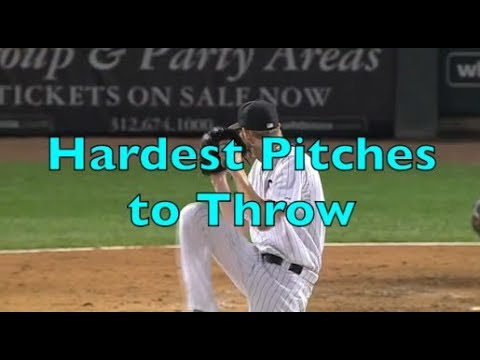 The Hardest Pitches to Throw in Baseball