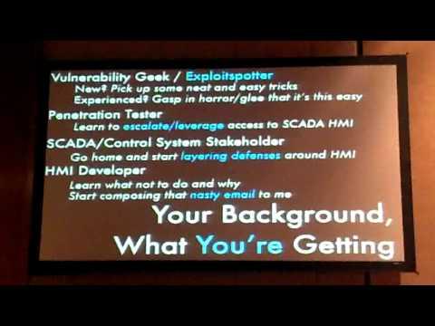 DEFCON 2012 - SCADA HMI and Microsoft Bob   Part 1 of 5