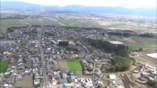 空から見た宮崎県都城市庄内地区