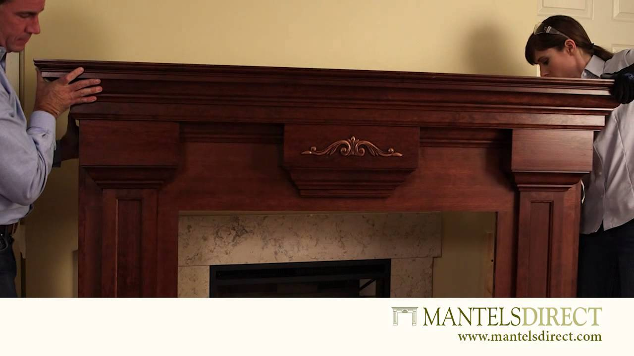 Wood Fireplace Mantel Surround  Installation  MantelsDirectcom  YouTube