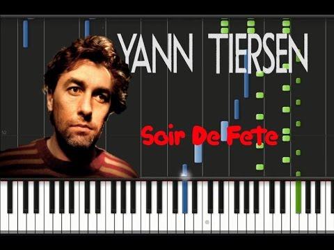 Yann Tiersen - Soir De Fete [Synthesia Tutorial]