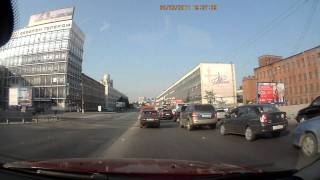 Три встречки на съезде с Кантемировского моста