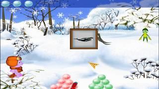 Лунтик и Кузя играют в снежки. ЛУНТИК ХОЧУ ЗНАТЬ ВСЕ. Часть 3.