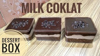 Resep milk coklat dessert box kekinian