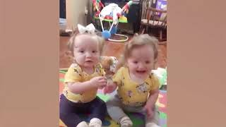 Cute Twins Babies Fighting   Funny babies videos