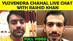 Yuzvendra Chahal Instagram Live Chat With Rashid Khan | Yuzvendra Chahal & Rashid Khan Live Chat |