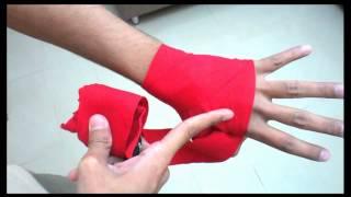 طريقة ربط الباندج للمدرب محمد غازي - كيك بوكسنغ kick boxing