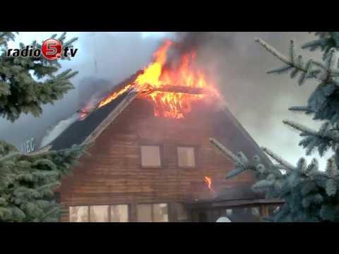 Potężny pożar restauracji   Radio 5