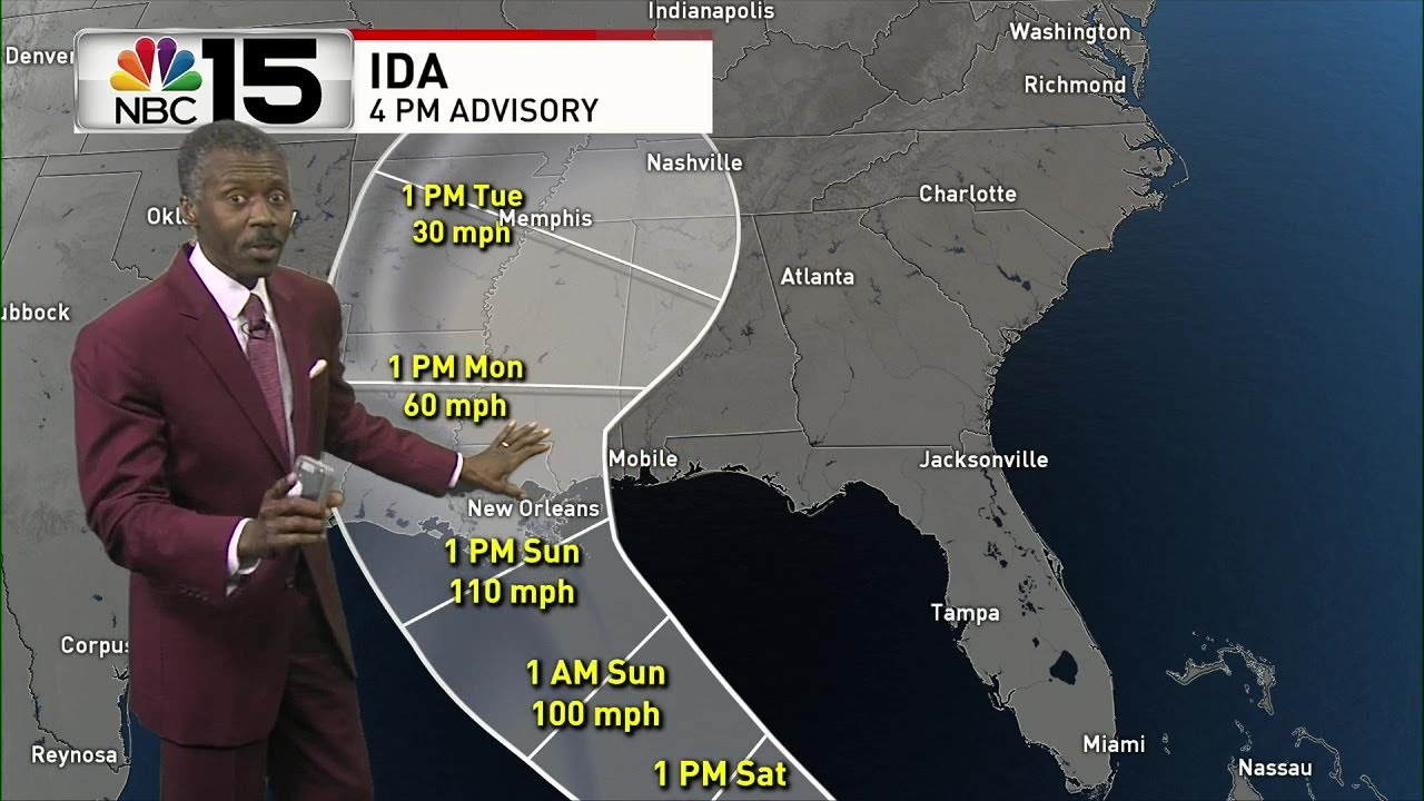 Tropical Storm Ida forecast to strengthen; could threaten Gulf Coast ...