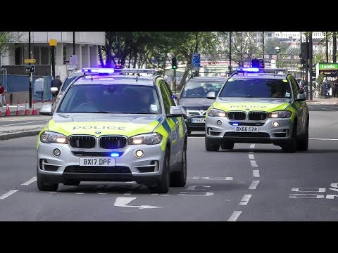 London Police 2x BMW X5 Armed Response Vehicles responding together