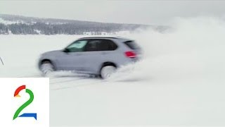BMW X5 M50 on frozen lake in Norway - Broom.no