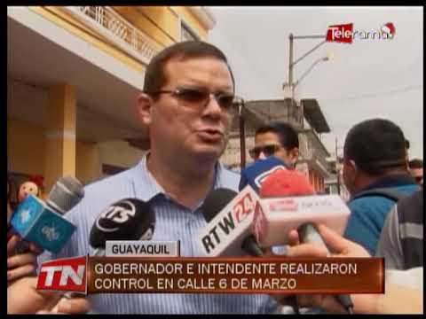 Gobernador e intendente realizaron control en calle 6 de marzo