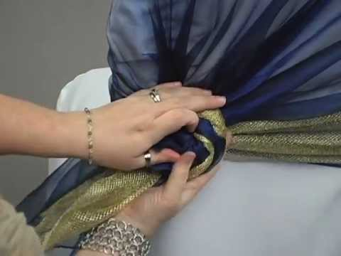 Sash Tying Tutorial: Overlay Rosette w/ Highlight by LinenTablecloth