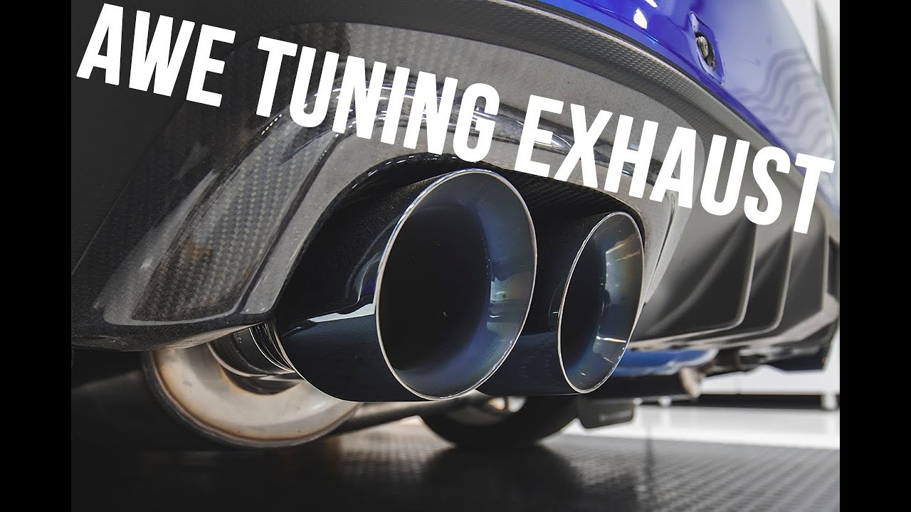 new awe tuning wrx sti exhaust