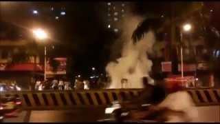Eid Milad Lal Buag Fights Burning on street 2015