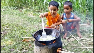 Cute Cooking Show - Buffalo Tongue Curry Cooking By 3 Years Old Angel Baby Chef - Sneyha's Show