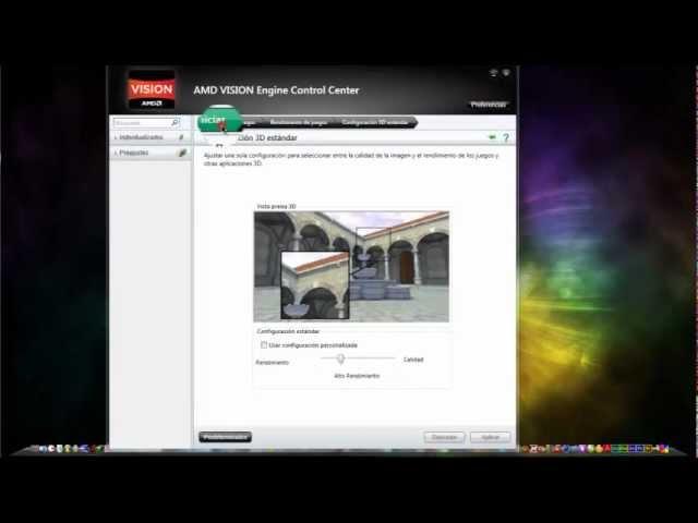 Configurar Amd Vision Engine Control Center Youtube