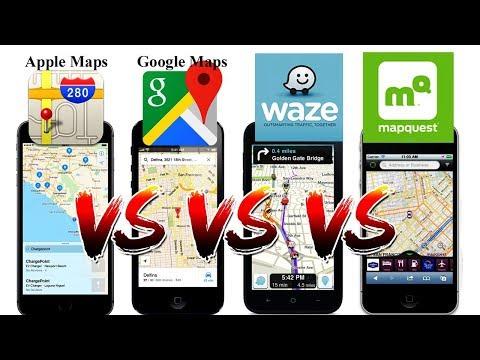 Waze vs Google Maps vs Apple Maps vs Mapquest!