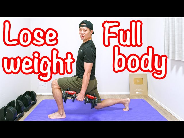 [10 min] Lose weight full body workout with dumbbell