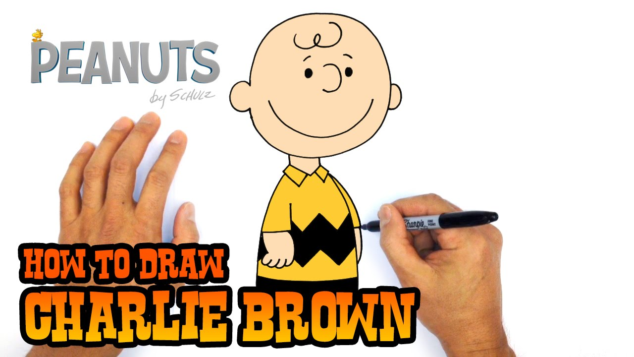 How To Draw Charlie Brown Peanuts Youtube