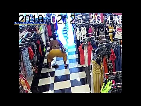 Florida Front Row - Florida Woman Caught Twerking While Shoplifting On Security Camera