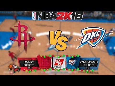 NBA 2K18 - Houston Rockets vs. Oklahoma City Thunder - Full Gameplay