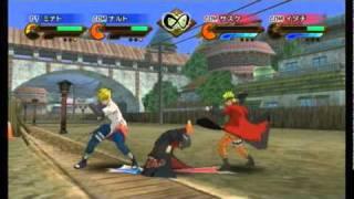 Naruto Shippuden: Gekitou Ninja Taisen Special - Minato/Sage Mode Naruto vs Sasuke/Itachi