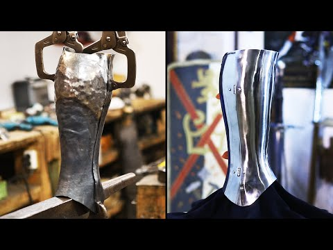 How to make steel greeves. DIY Forging armor.