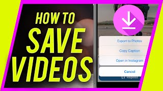 Gambar cover How to save videos from Instagram