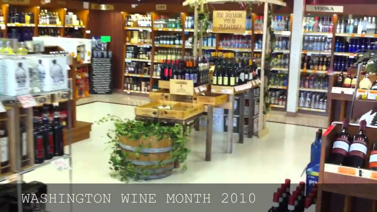 WSLCB Store #144 WA Wine Month Display