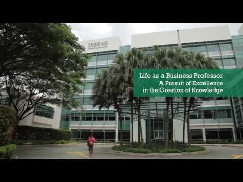 Life as a Business Professor -- A Pursuit of Excellence in the Creation of Knowledge